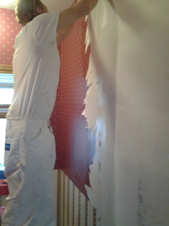 Wallpaper removal in Parkville, MO by Messina Painting & Remodeling.